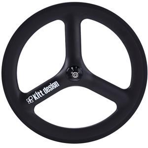 Carbon Tri Spoke 20/451 Disc 100mm 6B ホワイト フロントホイール