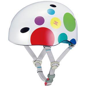 FR-MINI ドットホワイト 47-51cm キッズヘルメット