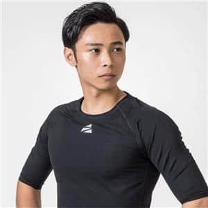 Men's Short Sleeve Shirt メンズショートスリーブシャツ ブラック L