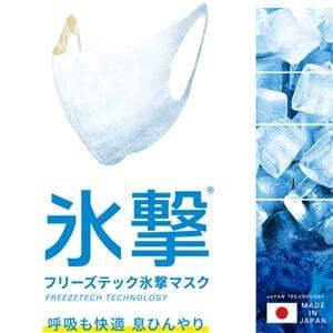 氷撃エチケットマスク ホワイト サイズM(大人普通サイズ)
