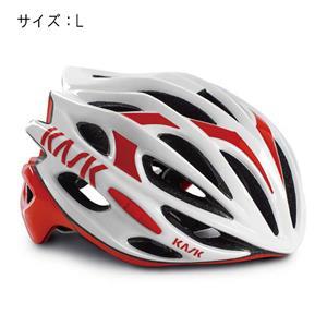 MOJITO モヒート ホワイト/レッド サイズL ヘルメット