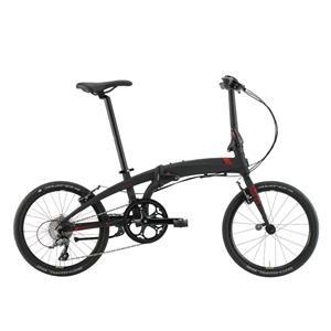2020モデル VERGE N8 ヴァージュ マットブラック/レッド/ブラック (142-190cm) 折畳自転車