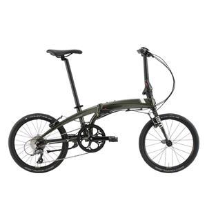 2020モデル VERGE N8 ヴァージュ グリーン/ホワイト/ゴールド (142-190cm) 折畳自転車