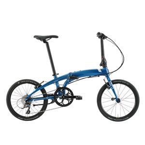 2020モデル VERGE N8 ヴァージュ ブルー/ホワイト/ブラック (142-190cm) 折畳自転車