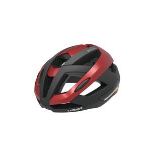 FIANZA フィアンザ ブラック/レッド サイズS/M(55-58cm) ヘルメット