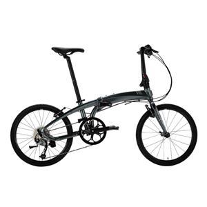 2019モデル VERGE D9 ヴァージュ ガンメタル/グレー(ホワイト) 折りたたみ自転車