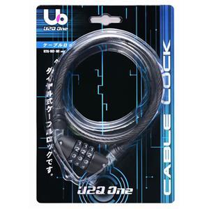 U2Q One 102 WIRE LOCK 10×600mm ブラック ワイヤーロック