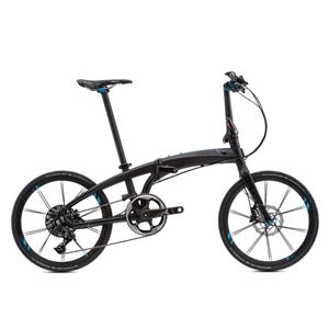 2019モデル VERGE X11 ヴァージュ マットブラック/ブラック(ブライト ブルー) 折りたたみ自転車