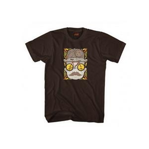 Mr.CAT HAT Tシャツ サイズL ブラウン