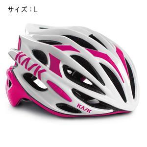MOJITO モヒート ホワイト/フューシャ サイズL ヘルメット