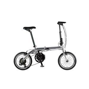 ULTRA LIGHT ウルトラライト E-BIKE AL-FDB166E シルバー 16インチ 折畳 電動自転車