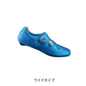 RC9 ブルー ワイドタイプ サイズ48(30.5cm) ビンディングシューズ