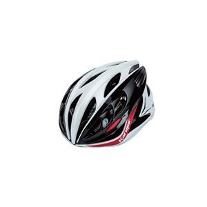 DITRO ディトロ ホワイト/ブラック/レッド サイズL(59-60cm) ヘルメット