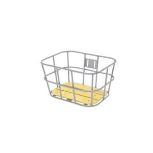 AL-N04 ウッド ボトム バスケット サイズS シルバー