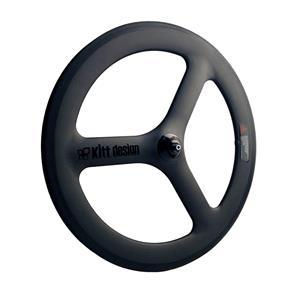 Carbon Tri Spoke 20/406 Rim 74mm ブラック フロントホイール