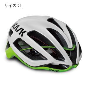 PROTONE プロトーン ホワイト/ライム サイズL ヘルメット