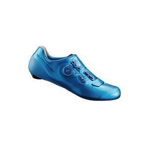 S-PHYRE SH-RC901TE ブルー WIDE 47(29.8cm) SPD-SL ビンディングシューズ