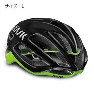 PROTONE プロトーン ブラック/ライム サイズL ヘルメット