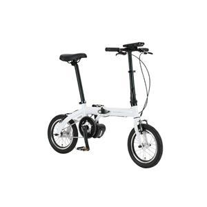 ULTRA LIGHT ウルトラライト E-BIKE AL-FDB140E ホワイト 14インチ 折畳 電動自転車