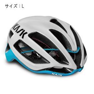 PROTONE プロトーン ホワイト/ライトブルー サイズL ヘルメット