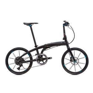 2021モデル VERGE X11 ヴァージュ MATTE BK/BK(BRIGHT BLUE) (142-190cm) 折りたたみ自転車